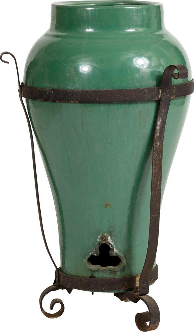 Arts & Crafts-Style Oil Jar