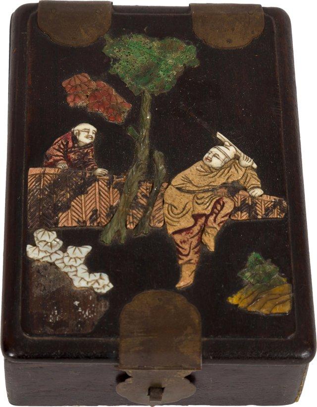 Ivory, Ebony & Jade Japanese Box