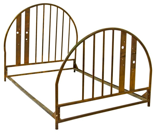 Hand-Wrought Copper Bed Frame, Queen