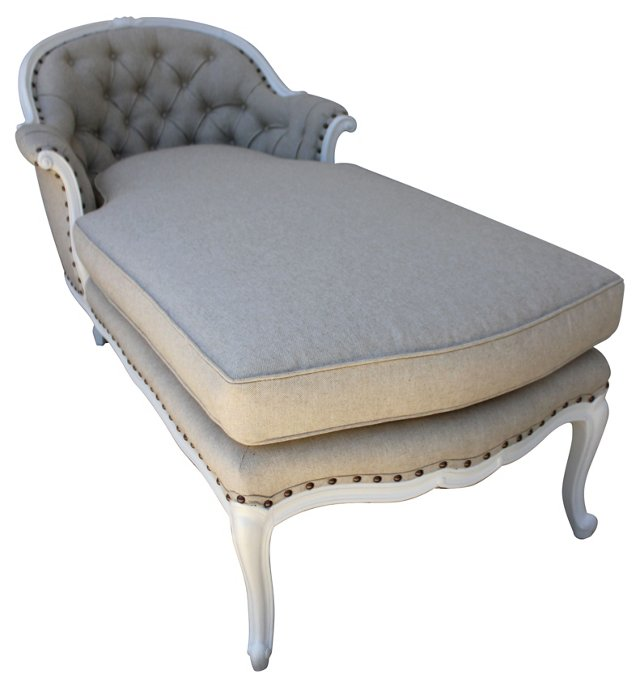 1930s  Tufted Chaise Longue