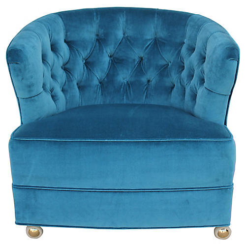 Tufted Velvet Accent Chair