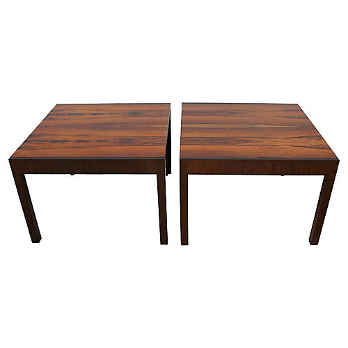 Baker Rosewood Tables, Pair