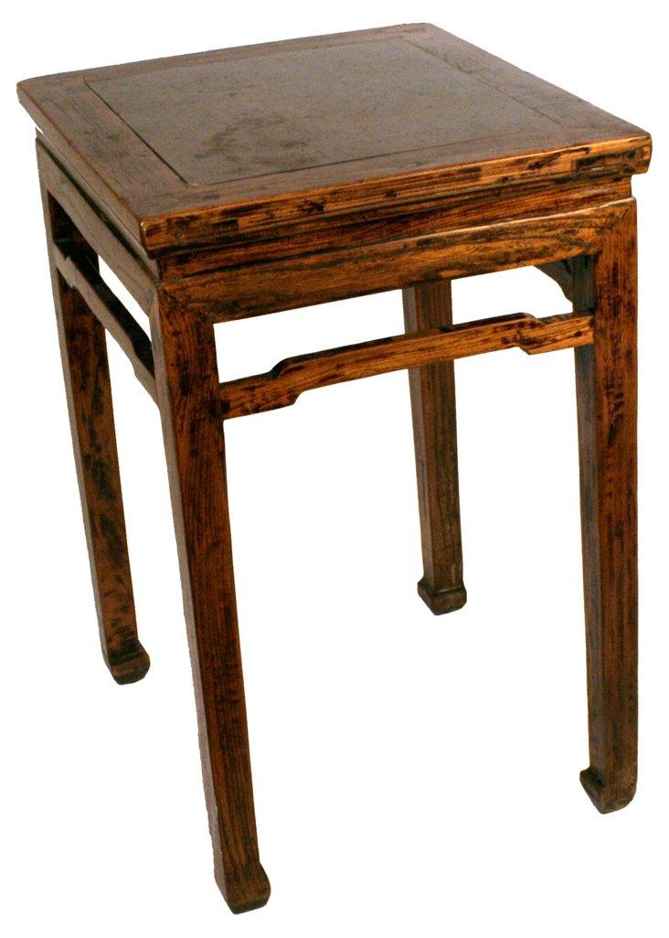 Elm Table w/ Stone Inlay