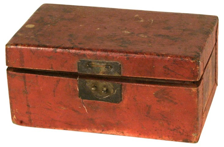 Antique Chinese Leather Box