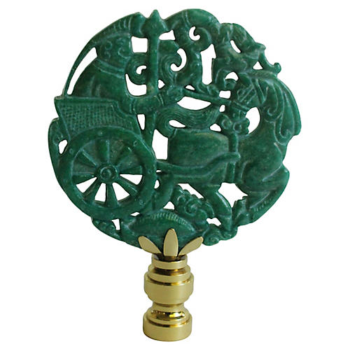 Chinese War Chariot Lamp Finial