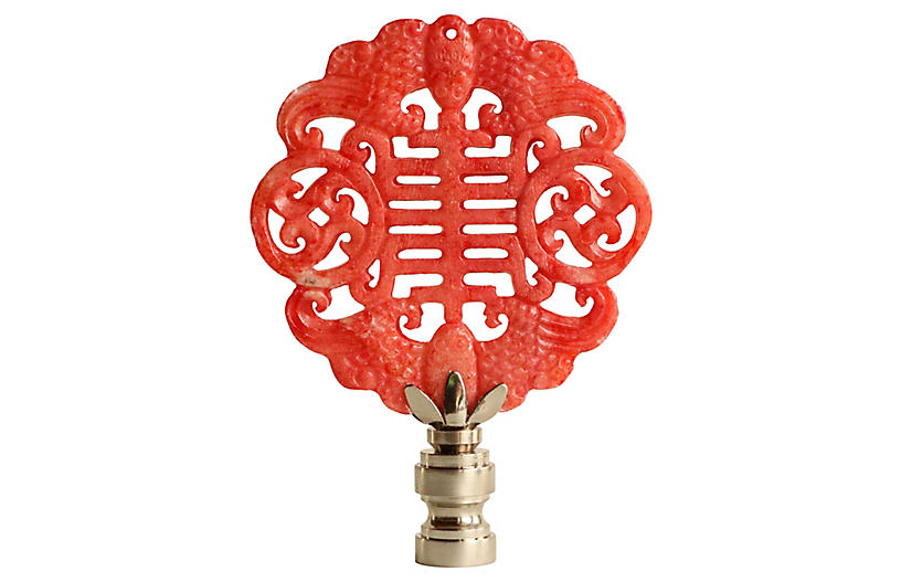 Chinese calligraphy lamp finial lighting under
