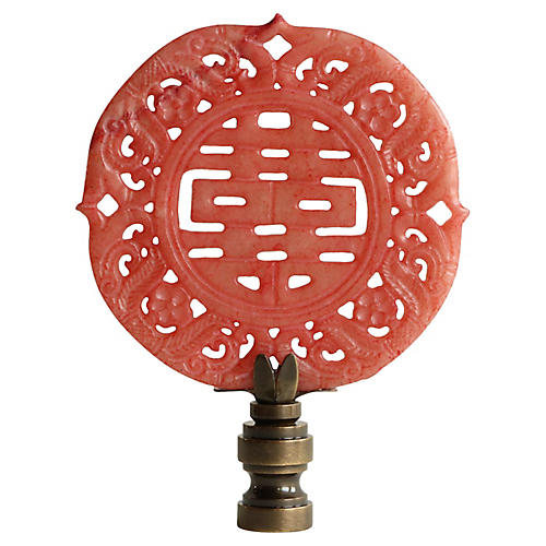 Double Happiness Lamp Finial