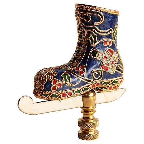 Cloisonne Ice Skate Lamp Finial