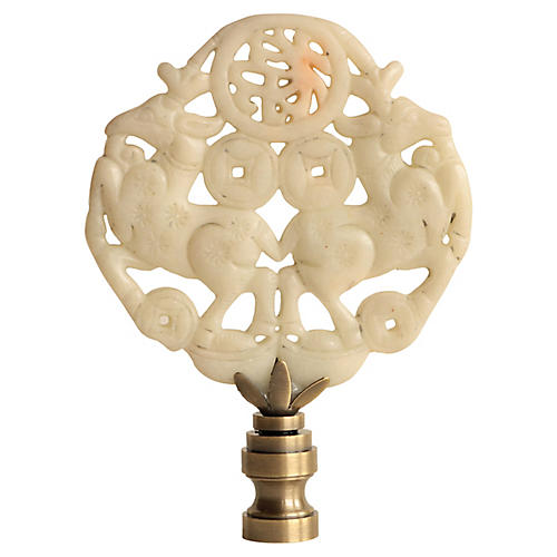 Leaping Stag Lamp Finial