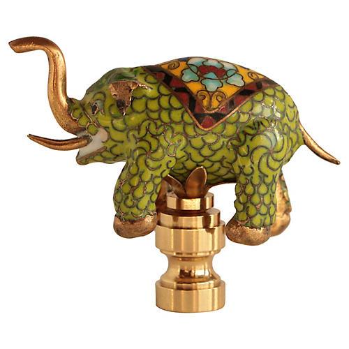 Cloisonné Elephant Lamp Finial