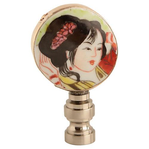 Porcelain Portrait Lamp Finial
