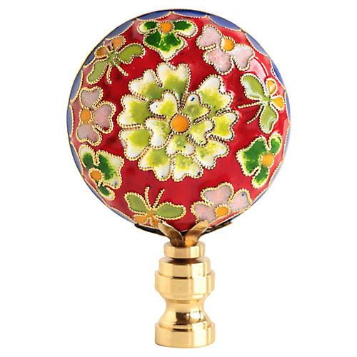 Champlevé Cloisonné Lamp Finial