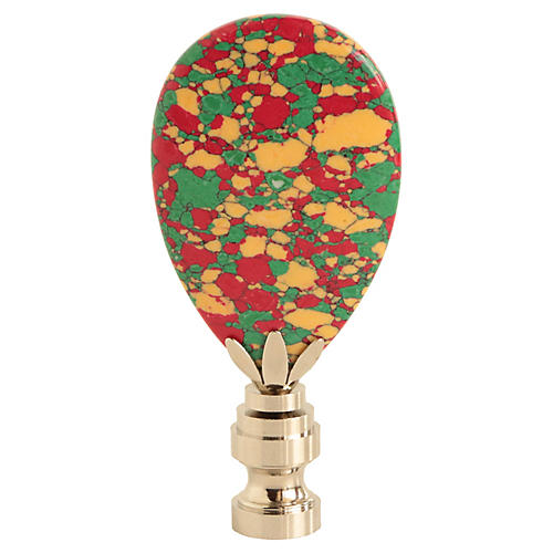 Holiday Confetti Lamp Finial