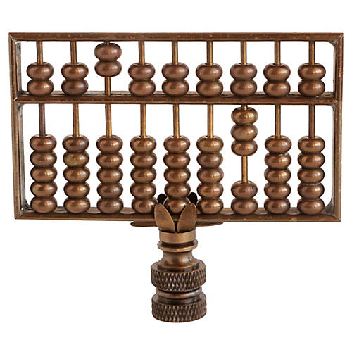 Brass Abacus Lamp Finial