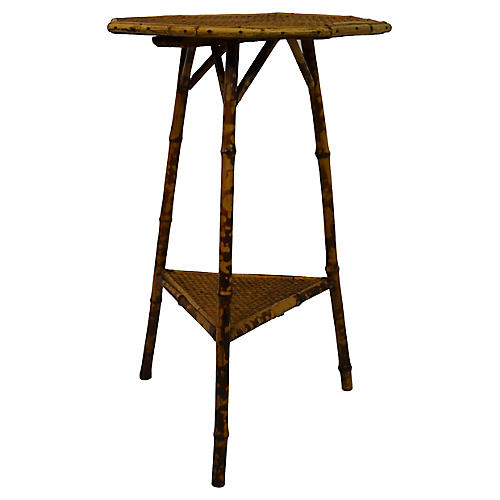 19th-C. Bamboo Octagonal Top Table