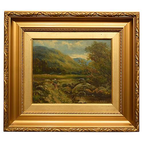 19th-C. Landscape by Henry Bates