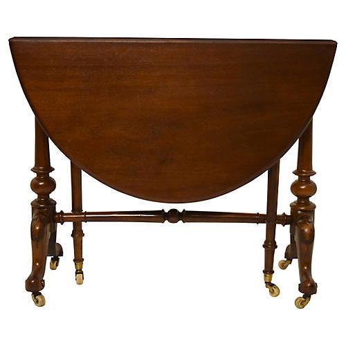 19th-C. English Sutherland Walnut Table