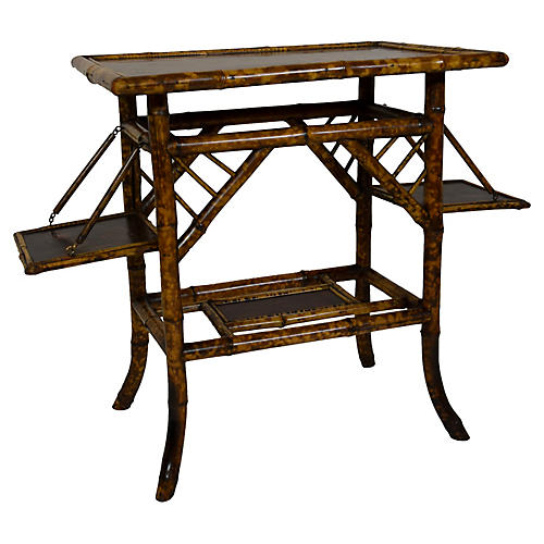 19th-C. Bamboo Side Table