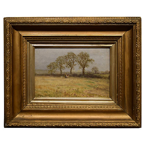 19th-C. Framed Oil by Dixon Clark