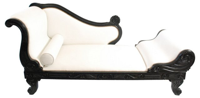 White Italian Leather Daybed