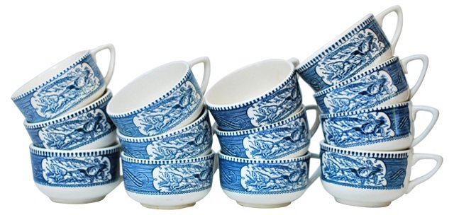 Currier & Ives Mugs, S/13