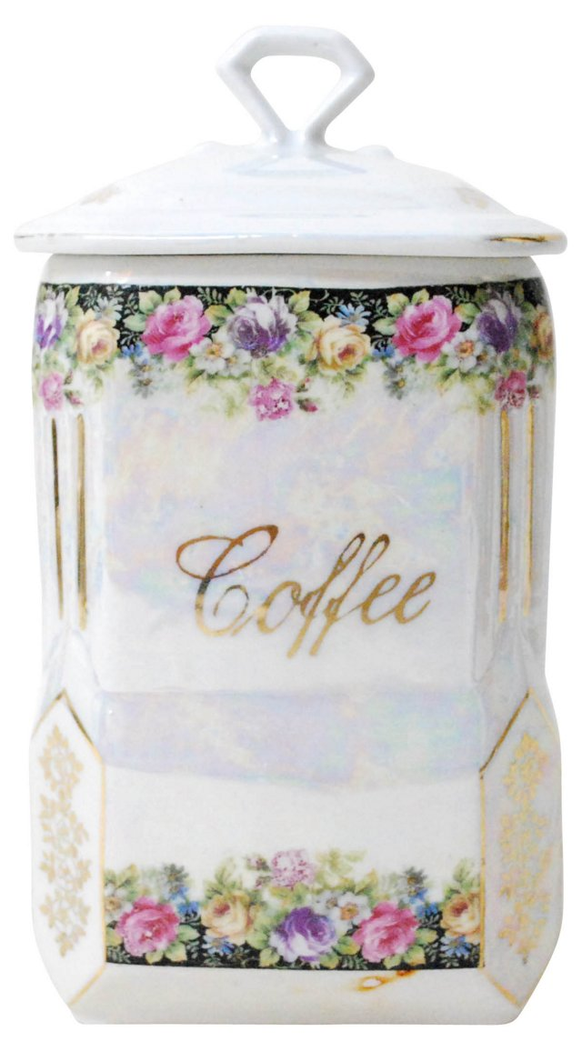 Porcelain Coffee Canister