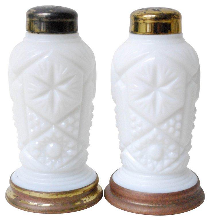 Milk Glass Salt & Pepper