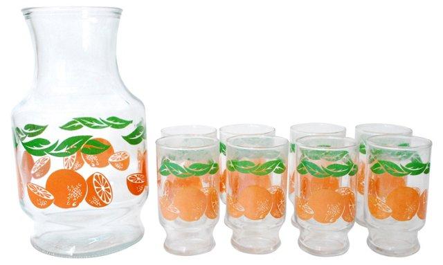 Juice Pitcher & Glasses, 9 Pcs