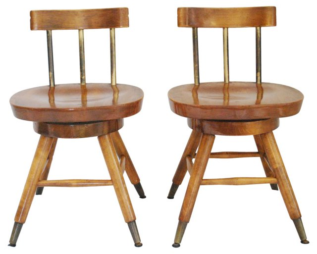 Swivel    Chairs, Pair