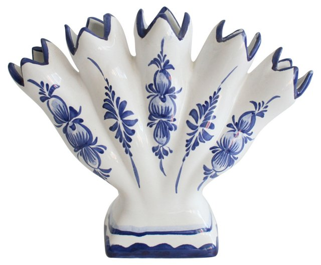 Blue & White Finger Vase