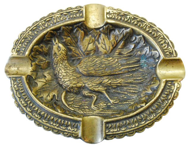 Brass Pheasant Ashtray