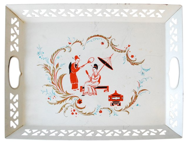 Chinoiserie   Handled Tray