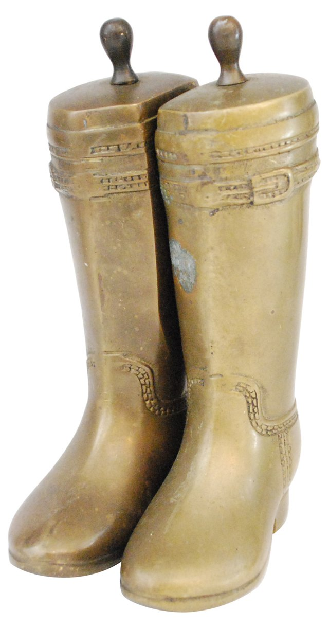 Riding Boot Bookends, Pair
