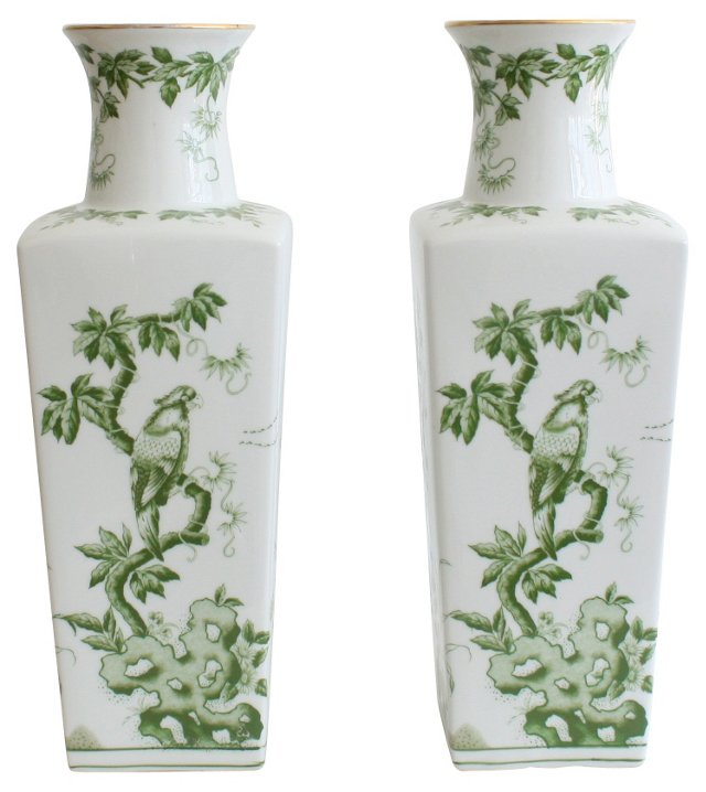 Japanese  Porcelain Vases, Pair