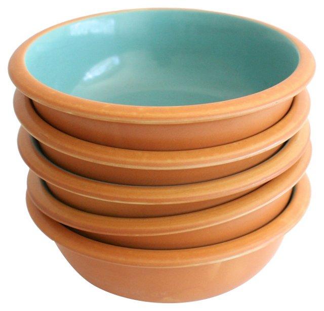 Midcentury Crown Corning Bowls, S/5