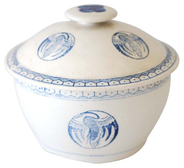 Earthenware Crane Pot