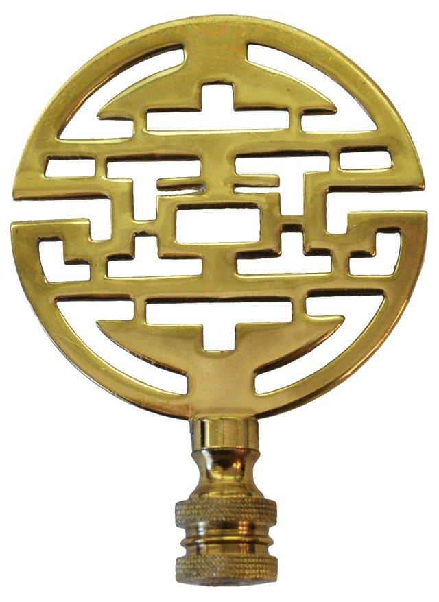 Asian-Style Brass  Finial