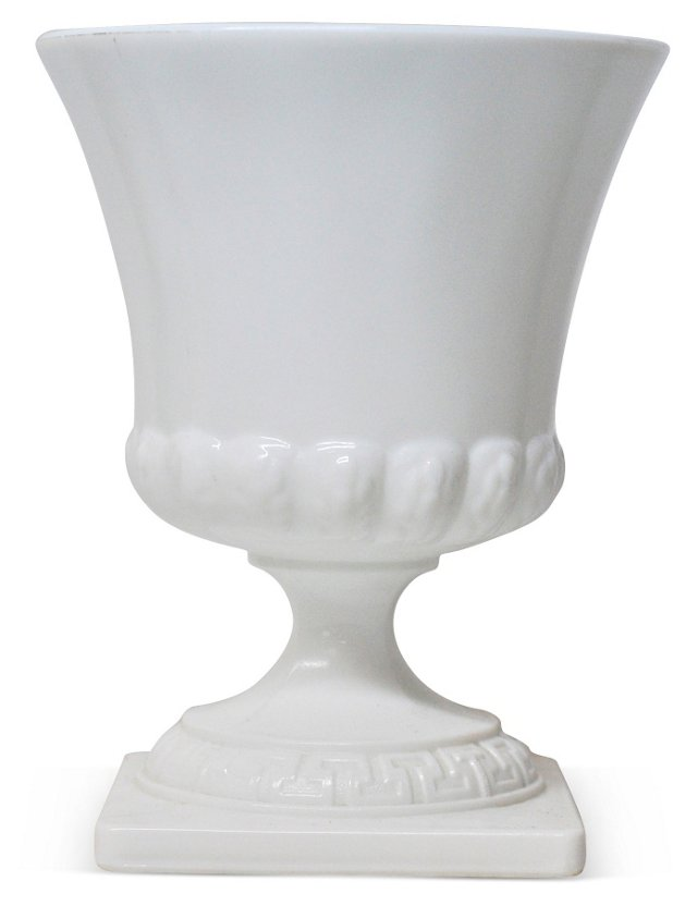 Milk Glass Urn-Shaped Vase