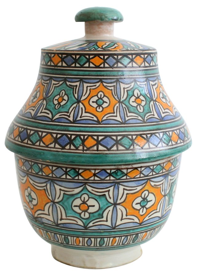 Hand-Painted Moroccan Pottery