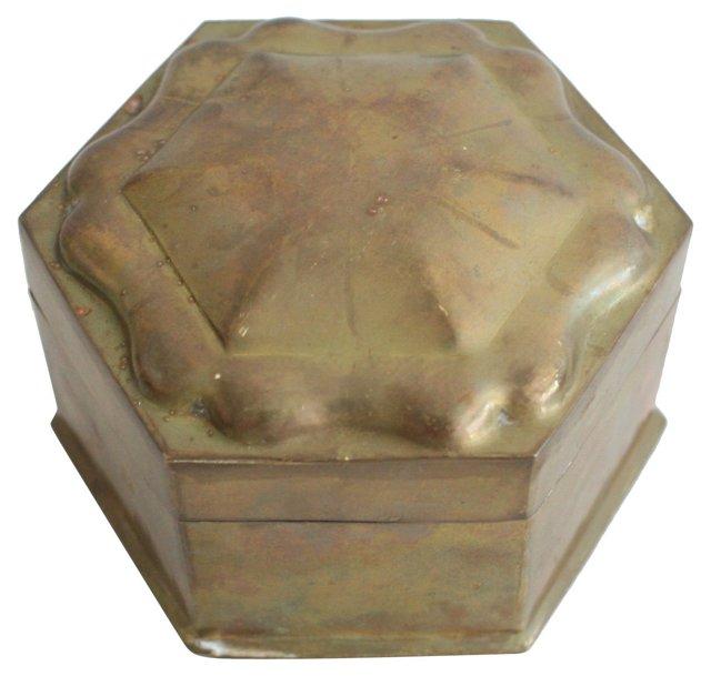 Gem-Shaped   Brass Box