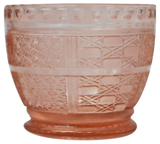 Pink Depression Glass Catchall