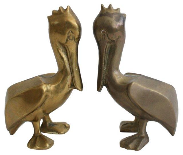 Brass Pelicans,  Pair