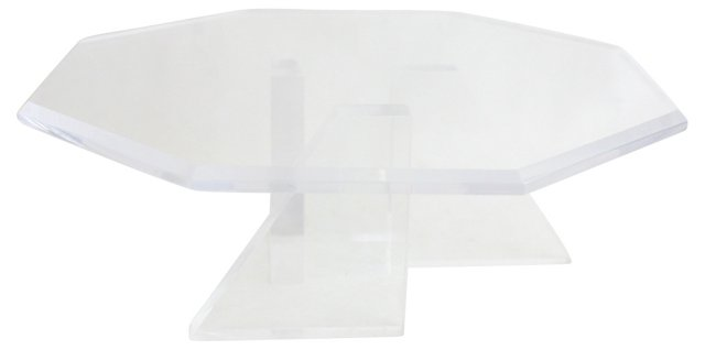 Deco-Style Lucite Cake Stand