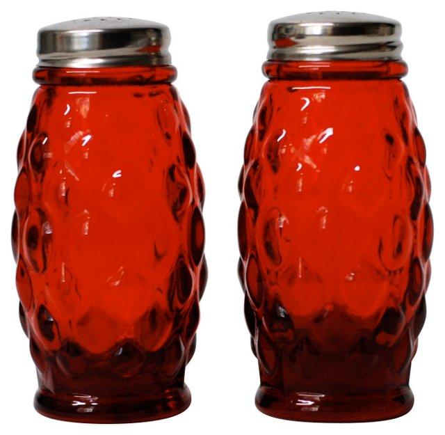Ruby Red  Salt & Pepper