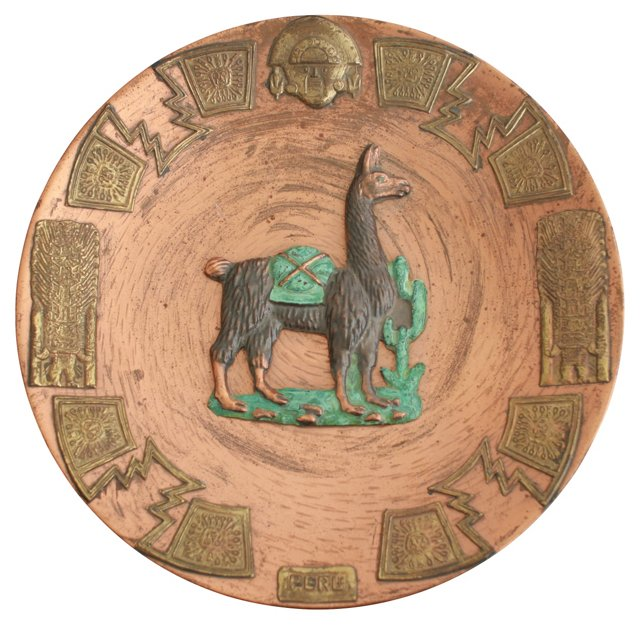 Peru Copper  Wall  Plate