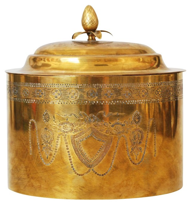 Brass Tea Canister