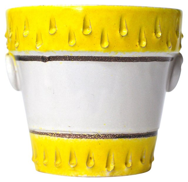 White & Yellow Italian Pot