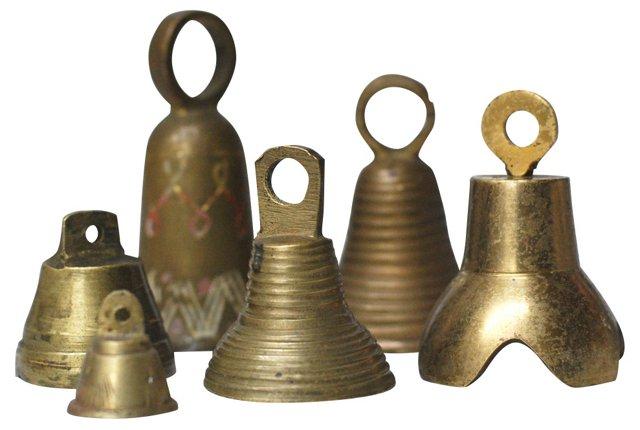 Petite Brass Bells, S/6