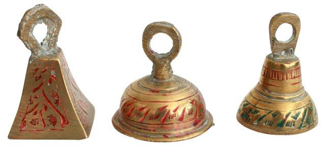Brass Bells,   Set of 3