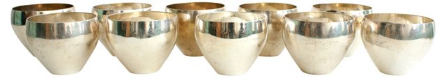 Midcentury Silverplate Cups, S/10